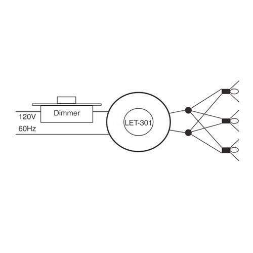 Lightech Let 301 12 Ac 300 Watt 12 Volt Ac Electronic
