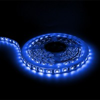 LED tape light BLUE 16ft 24volt DC SMD 5050 IP44 rated dimmable