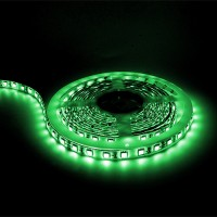 LED tape light GREEN 16ft 24volt DC SMD 5050 IP44 rated dimmable